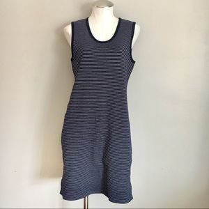 J. Crew Factory Knit Navy Stripe Sheath Dress